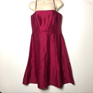 Ann Taylor Red strapless dress 6 B5